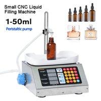 0-50ml pequeno automático CNC líquido máquina de enchimento 220V Perfume Pesando máquina de enchimento líquido oral Solução Filler