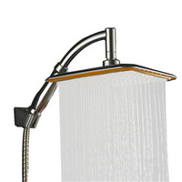 Kafa ABS Krom Su Tasarrufu Duş Uzatma Kolu el duş başlığı İnce Duş yağış 9 İnç Döndür 360 Derece Banyo