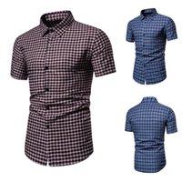 قمصان الرجال قمصان المتناثرة قميص رجالي Camisa هومبر أزياء منقوشة مطبوعة الربط الشريط كم قصير فضفاض الصيف للرجال