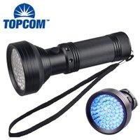 Ficklampor Torches Topcom Kraftfull 5W 68 LED UV 395nm Ljus svart lykta för PET Urin Detect Catch Scorpion