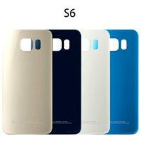 Per Samsung Galaxy S6 G920 S6Edge G925 G928 Back Door batteria dell'alloggiamento con l'autoadesivo S6 Bordo Inoltre Vetro copertura posteriore della batteria G920F