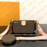 Çanta Kadın çanta Çoklu pochette çanta Zincir Crossbody çanta Moda Küçük Omuz Çantası 3 adet çoklu renk çanta kutu LB72 ile 44823 askıları