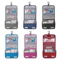 Mulher de alta qualidade da composição malas de viagem cosméticos saco de artigos de higiene pessoal Organizador Waterproof armazenamento Neceser Hanging Banho Wash Bag frete grátis