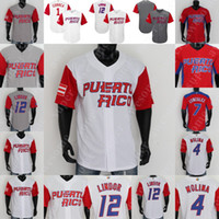 Porto Rico Jersey Baseball Yadier Molina Ivan Rodriguez Carlos Correa Enrique Hernandez Javier Baez Bernie Williams Seth Lugo Alex Cora