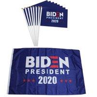 14 * 21cm Biden-Flagge 2020 amerikanische Präsident Wahl Polyester Stoff Flagge Amerikanische Karneval Waffe Außendekoration VT1380