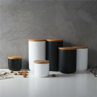 260ML / 800ml / 1000ml Sealed Keramik Vorratsdose für Gewürze Tankcontainer für Essen mit Deckel Flasche Kaffee-Tee-Keksdose Kitchen Organizer