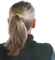 실버 회색 인간의 머리 포니 테일 가발 랩은 약 흑인 여성을위한 무료 자연 hightlight 소금과 후추 회색 머리 포니 테일 염료