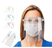 Preço mais baixo! Escudo facial Protecção Com Vidros Limpar Máscara Anti-Fog Full Face Isolamento de proteção transparente evitar que as gotículas de Segurança