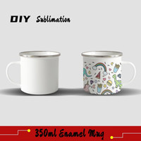 FedEx DIY Sublimation 12oz Enamel Mug with Silver Rim 350ml ...