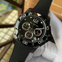 Siyah PVD izlemek kuvars 2020 toptan saatler erkekler vk Seramik çerçevesi montre de luxe 361l paslanmaz çelik işlevli chronograph yapılmış