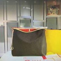 N50156 Calvi alta qualidade nunca Oxidar couro bolsa clássico Moda Mono Flower Handbag Mulheres de compras Totes Mulher Bolsas de Ombro