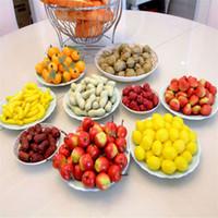 20Pcs / bag Mini Simulation super Kleine Äpfel Schaum Kunststoff-Fälschungs-künstliche Frucht-Modell Haus-Party-Küche Hochzeitsdekoration