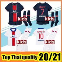 أطفال Maillots دي مجموعات كرة القدم تعيين 2020 2021 باريس لكرة القدم جيرسي 20 21 MBAPPE ICARDI شيرت الاطفال مايوه دي منظمة أطفال القدم