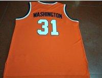 seltener Men # 31 Dwayne Perle Washingtonn Jersey Syracuse GRÖSSE S-6XL Hochschule basekteball Trikot oder benutzerdefinierte beliebige Namen oder Nummer Jersey