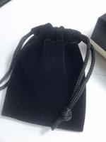 12x10cm 9x7cm Noir Velvet Dust Sac de poussière Mode C Emballage sac C VIP Package Sac à cordes pour cadeaux de bijoux en gros SAMCC SAMCC