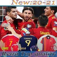 2020 Espanha Jersey Camiseta España Paco Morata A.iniesta Pique 1994 2010 Retro Espanha Europeia Cup Alcacer Sergio Alba Homens Crianças Terno