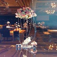 """5PCS Altın Çiçek Standı 82cm / 32,3"""" Uzun Metal Yol Olay Parti Ev Dekorasyon için Düğün Centrepiece Çiçekler Raf Kurşun"""