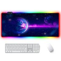 RGB Большой Gaming Mouse Pad 7 различных цветов Изменение Mouse Pad Негабаритные Светящиеся Led Расширенный Mousepad Keyboard Mat