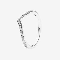 3 Цвета сверкающие кольцевые кольца розовое золото желтое позолоченное обручальное кольцо для Pandora 925 серебристый CZ с алмазными кольцами с оригинальной коробкой