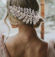 Handgemachte Hochzeit Kristall Stirnband mit Kamm Braut Strass Kopfstück Krone Tiara Haarschmuck Schmuck Krone Tiara Blume Floral Tiara