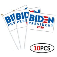 Biden-Flagge 2020 Amerika Wahl 10pcs / lot-Flagge 14 * 21cm USA Election Flagge Hände schütteln Banner Flags IIA391