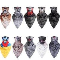 Animal Print Máscaras Ice Cool de secado rápido del pañuelo del triángulo de la toalla de la motocicleta bici del collar de la media cara de la boca cubierta del deporte Senderismo Máscara CGY67