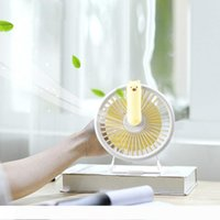BRELONG 미니 USB 데스크탑 팬 개인 휴대용 팬 충전식 멀티 컬러 LED 밤 빛 홈 오피스 1 개