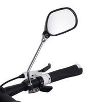 1 زوج قابل للتعديل زاوية دراجات المقود الخلفي مرآة طريق جبل دراجة بخارية مرآة الرؤية الخلفية للدراجات الضوء العاكس