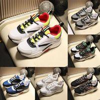 Nueva plataforma top deportivos de piel B24 Técnica zapatos zapatos Zapato corriente oblicua B24 manera del cordón -Up hombres y de mujeres de color suave de empalme
