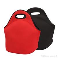 أسود أحمر NEW أكياس 100٪ النيوبرين أكياس الغداء برودة العزل الحراري الغداء النساء مربع الغداء حقيبة للأطفال حمل حقيبة يد LZ0577 ل