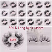 25 milímetros Lashes 3D macio 100% cabelo vison pestanas falsas longas Wispies Multilayers Fluffy cílios extensões Handmade Maquiagem reutilizáveis 5D Lashes