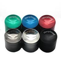 Konkav Grinder SharpStone Herb Grinders 4 Schichten konkave Oberfläche 40mm 50mm 55mm 63mm Durchmesser Zink-Legierung mit Logo