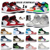 nike air jordan retro 1 1s Jumpman Olimpiadi Uomini Donne scarpe da basket Travis Scotts Crimson Tint Fearless Bred Kawhi Leonard Sport Sneakers AirRetroGiordania