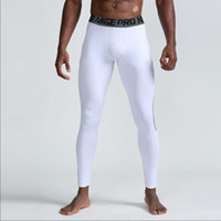 Venta al por mayor-New Gym Sports Leggings Secado rápido Transpirable Pro Transportable Pantalones deportivos Pantalones de fitness Pantalones de baloncesto Hombre Tamaño S-XXL
