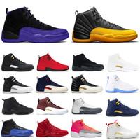 Los nuevos Mens zapatos de baloncesto 12s Universidad de piedra del oro azul se invierte Juego de la gripe oscuro Concord deportes de los hombres de moda juego de pelota zapatilla de deporte
