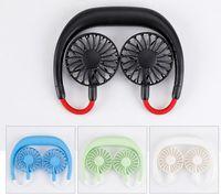 Ventilateur portable FAN MAIN MINI PERSONNE MINI FAN USB USB ventilateur de col rechargeable à 360 degrés Tête de réglage degré Col de cou pour voyage en plein air