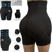 S-6XL Artı boyutu Kadınlar Bel Trainer Pad Butt kaldırıcı Yüksek Bel Karın Kontrol Külot Vücut Şekillendirici Kadınlar Shapewear Seksi İç Giyim MX200711