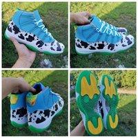 Zapatos 25 aniversario de Jumpman 11 11s Helado vaca baloncesto de los hombres de pulso-Negro-Universit Diablo 2020 Primera marca para hombre de las zapatillas de deporte Deportes 7-13