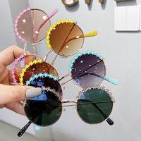 Arbeiten Sie Blumenkinder Sonnenbrille Metall Mädchen Sonnenbrille Kinder Entwerfergläser Mädchen Brille Prinzessin Baby Großhandel B1582-Sonnenbrille