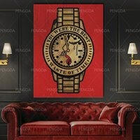 Canvas Painting Watch Modular Picture Time Wall Artwork Moti...