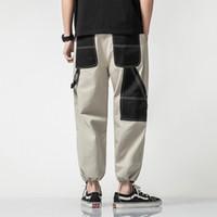 Мужчины Повседневных штанов Hip Hop Брюки Большого размер Новых Мужские Сыпучих штанахи мужской мода Беговой голеностопная Длина прямой
