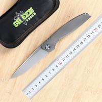 Зеленый шип, Ли складной нож D2 лезвие, TC4 Titanium 3D ручка кемпинг на открытом воздухе фруктов нож EDC инструмент