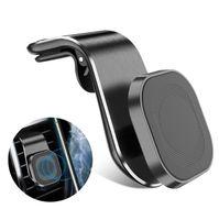Nouvelle mise à niveau Support universel montage magnétique 360 degrés de rotation automatique de l'air Vent téléphone portable Support à