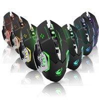Bilgisayar Dizüstü PC için X8 2.4GHz Kablosuz Fare LED Arka Sessiz Şarj Edilebilir Gaming Mouse 1800DPI Optik Fare