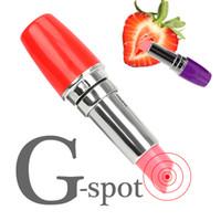 Giocattolo del sesso Mini vibratore Vibratore Rossetto Bullet Vibrator G Spot Massage Clitoris Stimolazione per le donne Prodotti per adulti erotici