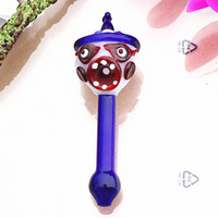 Scary vampire shape glass hand pipes with dab rig smoke pipe...