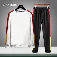 Men Tracksuit Sets Casual 2020 Autumn Male Jogger Sporting Suit Hoodies+Pants Sweatsuit 2 Piece Sets Mens Sportwear Clothing