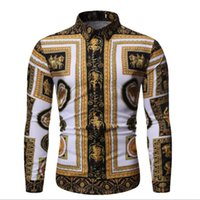 Designer men' s shirt autumn new fashion men' s clot...