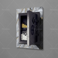 Prints Home Decor Gold Bar Canvas Painting Paper Money Wall ...