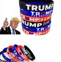 Trump 2020 pulsera partidarios de caucho de silicona muñeca del deporte de la banda de triunfo brazaletes pulseras para el presidente 2020 Voto partido LJJK2446 favor